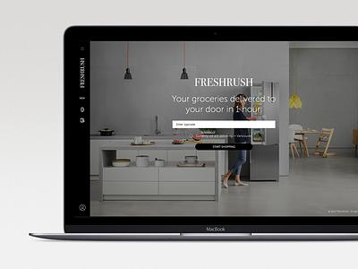 Freshrush Website prototype website delivery grocery