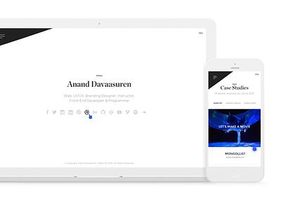 Anand Davaasuren - Portfolio website portfolio personal davaasuren anand