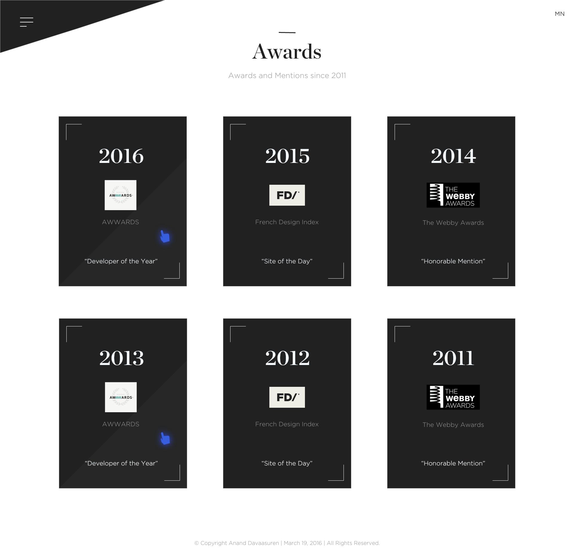 Awards 2x