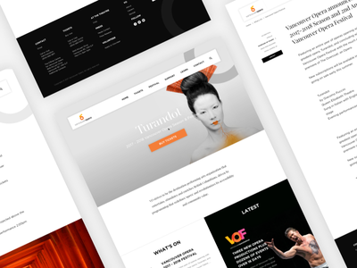 Vancouver Opera Website redesign website opera vancouver media massive engage