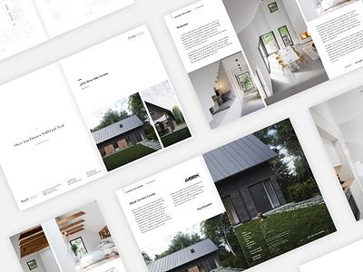 Real Estate - Brochure Design minimalistic modern design brochure real estate