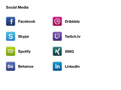 Social Media Icons social icon interface ui social media