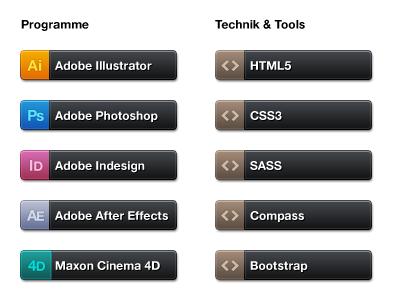 Applications & Technologies labels interface technologies technology web design