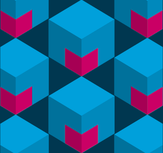 Logo Pattern pattern logo cyan magenta cube 3d