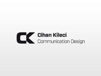 Personal Logo Design ck cihan kileci corporate design black white logo branding
