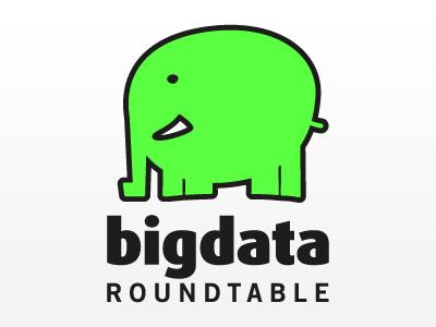 BigData Roundtable: Logo Design bigdata big data roundtable elephant green comic