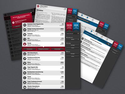 Vertragen.de pages overview vertragen.de cihan kileci hamburg interface design contract information architecture