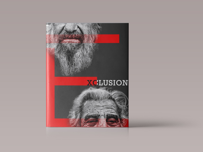 Minimal Book Cover Design EXCLUSION design illustration minimalistic minimalism minimalist minimal cover book cover artwork cover design cover art book illustration book covers book cover art book cover design book design book art book book cover