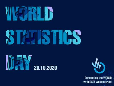 World Statistics Day papercut typography illustrator illustration design