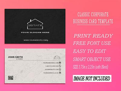 Classic Corporate Business Card Template modern business cards creative business cards unique business cards visiting card design business card design