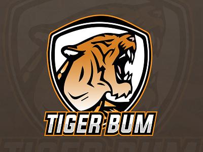 Tiger Bum E Sports Gaming Logo animal logo logo design gaminglogo logo freefire pubgmobile mascot logo tiger mascot e sports tiger logo gaming logo gaming