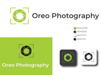 Oreo Photography Logo Template branding vector design logo illustration lens focus flash film family digital development dark room camera shutter camera logo camera blog amateur