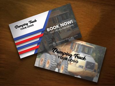 Business Card Design - Dumping Truck - PSD Template modern business cards creative business cards unique business cards visiting card design business card design