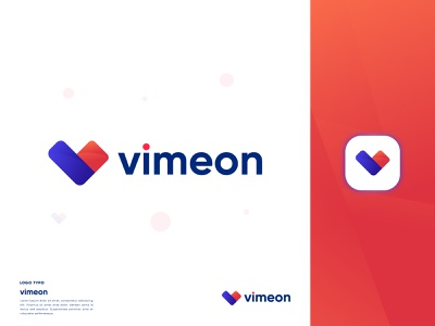 Vimeon Modern Logo Design - V Lettermark Logo - Logo Branding gradient logo wordmark logo print logo animation 3d product design company logo v monogram minimalist logo ui app logo illustration business logo abstract logo graphic design brand identity logo branding logo modern logo design v letter logo