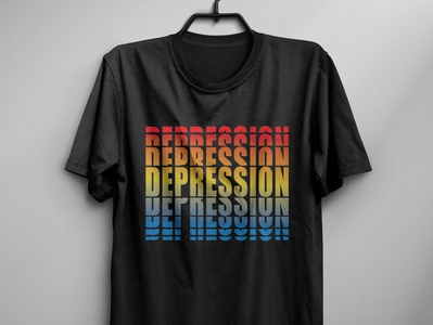 Depression t shirt depression branding typography t shirt design illustration t shirt design vector t shirt design idea t shirt design free t shirt typography t shirt art t shirt