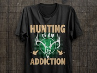 Hunting is an addiction hunting quotes t shirt design idea free t shirt hunter t shirt hunter t shirt design vector amazon t shirts print illustration hunting t shirt design hunting t shirt hunting vector hunting t shirt design t shirt