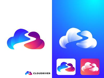 Cloud River/Road Logo roadlogo cloudriverr cloud cloudlogo fashion logofolio flat design branding boxing bestshot app modern minimalist logo creative logo creative