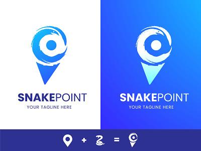 Snake point Logo sketch snakezoo snakelocation locationlogo pointlogo logosnake snakes snakepoint snakelogo flat app design branding bestshot modern minimalist logo creative logo creative