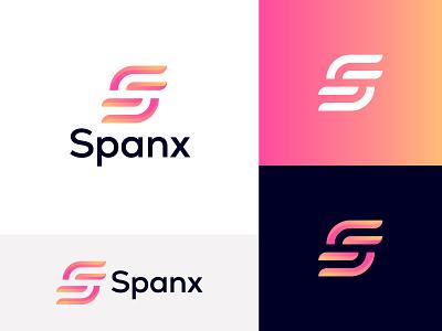 Spanx - S Letter Logo s letter logo lettermark modern logo illustrator typography icon logo brand identity brand design minimal design branding