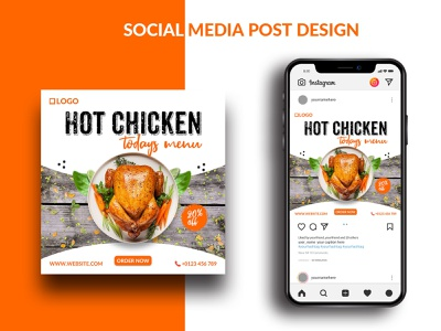 Food Social Media Banner - Restaurants banner design branding banner design web banner social media banner social restaurants banner media instagram banner food banner facebook banner social media post banner