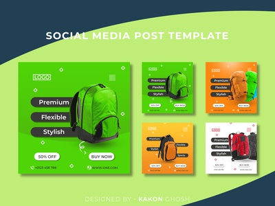Social Media Post templates I Social Media Banner Ads branding brand design web banners product banner e commerce advertising instagram template instagram banner instagram post social media ads social media banner