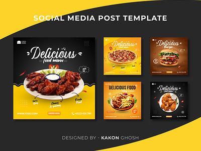Food Social Media Post Templates I Food Social Media Banner Ads design branding brand design instagram post social media post social media banner ad banner food food banner