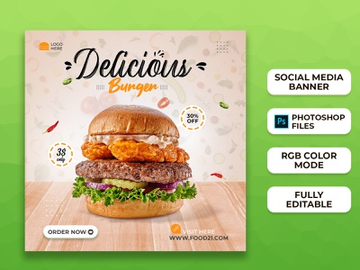 Food Social Media Post Templates I Social Media Banner minimal design brand design branding ad banners web banner instagram template instagram stories instagram banner instagram post social media design social media post social media banner food food banner
