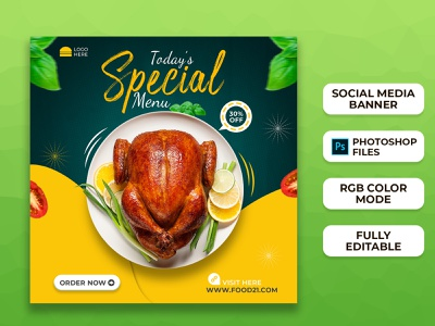 Food Social Media Post Templates I Social Media Banner design brand design branding web banner ad banners facebook ads instagram instagram template instagram stories instagram banner instagram post social media ads social media templates social media design social media banner social media post food banner