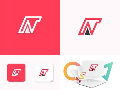 N Letter Modern Logo gradient graphic design logo design logo brand identity minimal design brand design branding modern logo