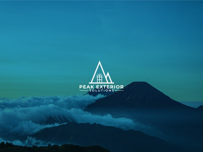Logo For Exterior Company. mountain logo graphic design modern logo logo brand identity minimal brand design branding real estate logo exterior logo