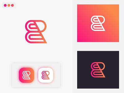 B&R Letter Logo icon gradient logo modern logo logo brand identity minimal brand design branding wordmark br letter r letter logo b letter logo letter logo