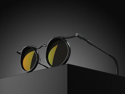 Sunglasses Concept for IMZ URAL keyshot 3dmodeling rhinoceros sunglasses accessory fashion design design concept 3d artist product design design