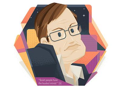 Hawking people figure genius smart space star scientist physic illustration hawking stephen astro