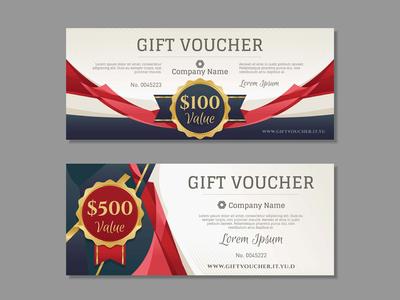 Luxury Golden Gift Voucher Template