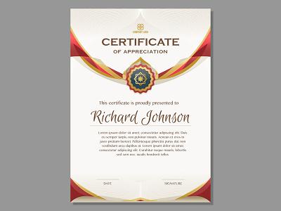 Golden Certificate Template template certificate golden