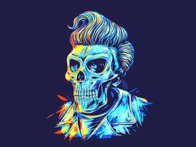 Pompadour Skull Head