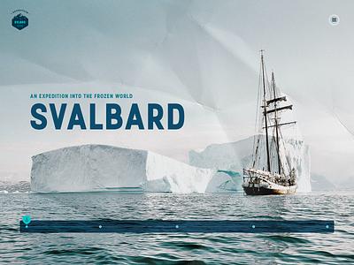 SVLBRD Expedition 002 arctic graphics ui website webdesign