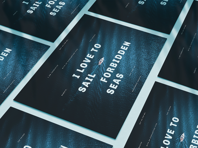 Poster | Quote from Moby Dick poster typography print graphicdesign design