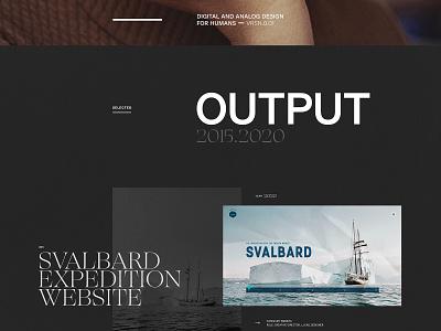 My Portfolio Website | VRSN 0.01.dark [detail] typography clean portfolio webdesign ui design