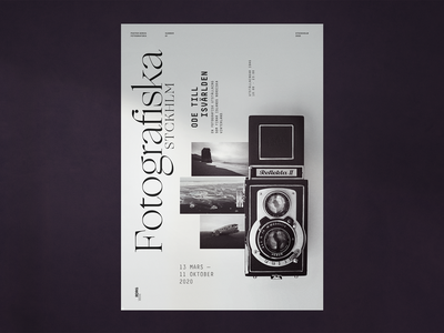 Fotografiska Poster | Concept concept design blackandwhite graphicdesign poster print typography