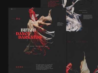 Butoh, Dance of Darkness Website concept design ui typography website webdesign