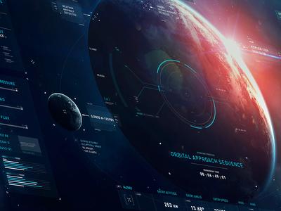 HUD | Deep-Space Probe inteface visual design concept typography design