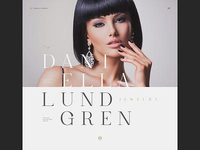 Daniella Lundgren Jewelry ux design ui typography concept website webdesign
