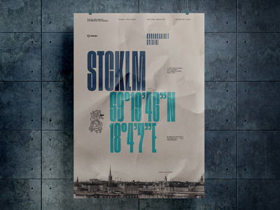 poster STCKLM poster graphicdesign print typography design