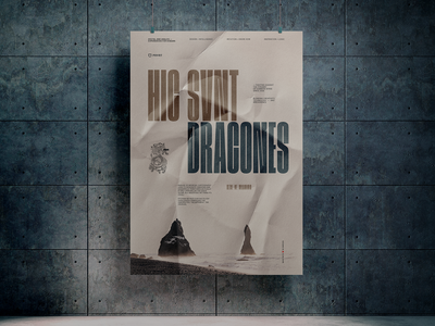 Hic Svnt Dracones poster graphics poster graphicdesign print typography design