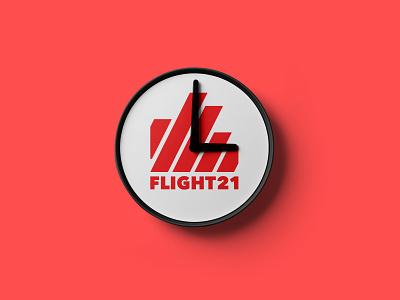 Flight21 red clock