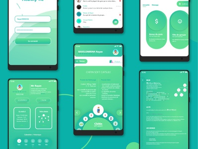 App MLM  (UX design) designer application xd mlm software company mlm ux design ux ui