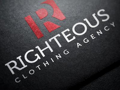 Righteous Clothing Agency: Logo righteous clothing logo branding stationary letterhead business card jonathan brim