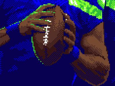 Wilson close football pixel