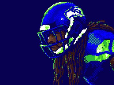 Sherman Pixel football pixel
